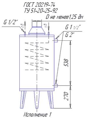 схема котла АОГВК-17,4-3 Ростов мод. 2210